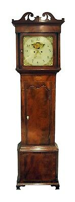 Antique Mahogany Longcase Clock Moon Phase John Thorley Macclesfield Granfather