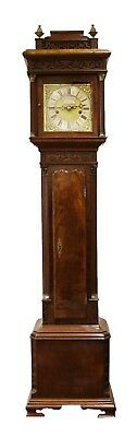 Antique Mahogany Dwarf Longcase Clock Grandfather Clock