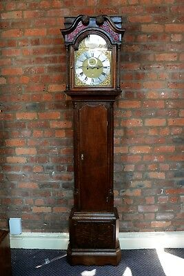 Antique Oak Longcase Clock Tho Birchall Nantwich Grandfather Clock