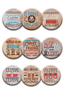 Coffee Lover Hands On Design Zappy Dots Magnet Collection Set of 9