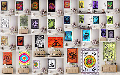 Wall Hanging Cotton Poster Size Yoga Mat Tapestry Ethnic Indian Handmade Decor