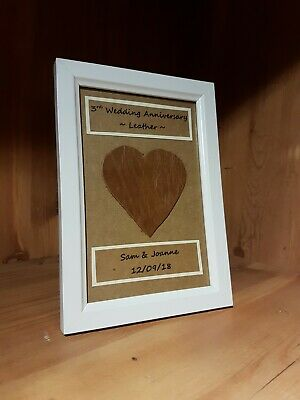 3rd Wedding Anniversary Gift.Personalised 3rd Wedding Anniversary Frame Gift Leather Anniversary Gift Wrap
