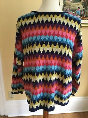 Vintage Esprit Womens Chevron Multi Colored Sweater XL Beautiful Design