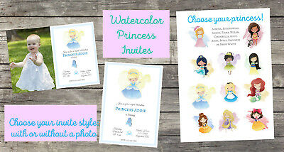 Personalized disney princess birthday invitation digital file 5x7 personalized disney princess birthday invitation digital file 5x7 filmwisefo