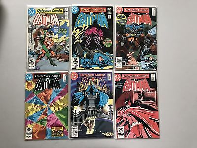 Lot of 12 Detective Comics (1937 1st Series) from #521-564 VF-NM Near Mint