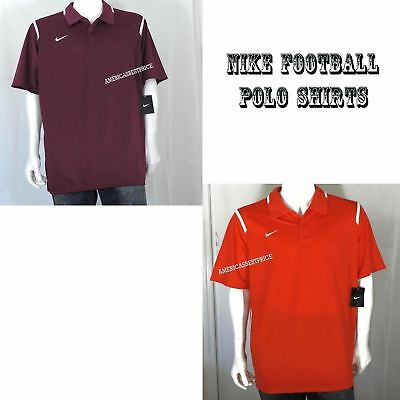 0c9725ba3 Nike New Mens Team Game Day Polo Shirt Short Sleeve Nwt Dri-Fit Maroon  Orange