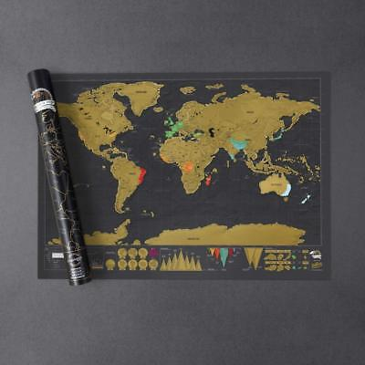 SCRATCH OFF MAP Of The World Map Decoration Map Wall Map X - Watercolor scratch off map