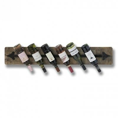 6 Bottle Wall Mounted Wine Rack. Hill Interiors. Delivery is Free