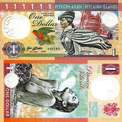 PITCAIRN ISLANDS 1 Dollar Fun-Fantasy Note Private Issue Currency 2018 Ship Nude