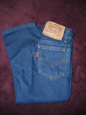 Vintage 80's Orange Tab Levi's Boys Jeans Size 4 Slim (216-8116) Little Levi's
