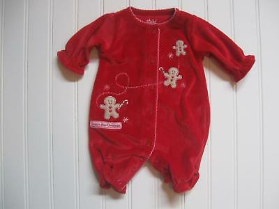 Child of Mine Carters Baby Girl PREEMIE Red Velour First CHRISTMAS Outfit Reborn