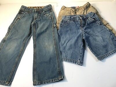 Nwt Jumping Beans Boys 2 Pc Lot Size 5 Denim Jean Shorts Space