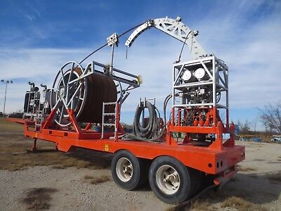 Trailer Mounted Coil Tubing Unit Complete with 6V71 Detroit Diesel- Oil Drilling