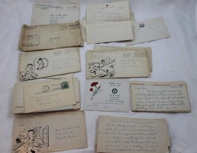 30 WWII Letters to Home Military Serviceman World War Two Covers WW II WW2 Lot