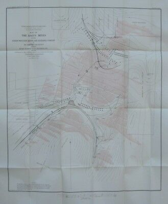 Original 1885 DAGUS MINES Coal Fields Elk County Pennsylvania Coke Ovens Tramway