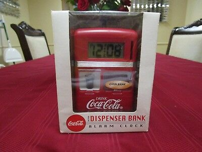 Coca Cola retro dispenser bank & alarm clock new