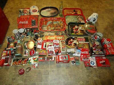 Large lot of Collectible coca cola advertising items