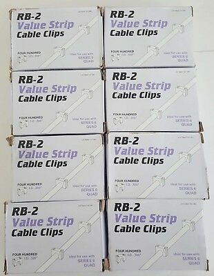 x3200 Telecrafter Products 06WQ-VS RB-2 Value Strip Cable Clips