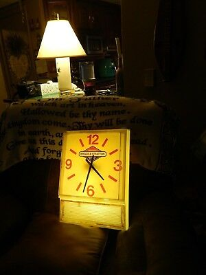 Original ~Briggs & Stratton~ Service Parts [LIGHTED WALL CLOCK] Vtg Promo SIGN