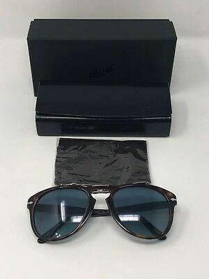 95ff7bd059a Persol Mens s 714 PO0714 24 S3 54 Crystal Blue Gradient Folding Sunglasses