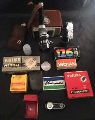 Rare Vintage Cine Camera D8 Cima Japan Sun Zoom Lens Flashes And Other Accesorie