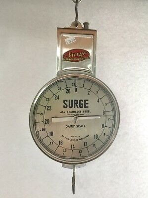 Babson Surge Hanging Weigh Scale Stainless Steel - New in Box 1960s?