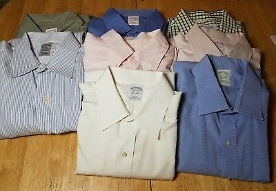 Reseller Lot of 8 Brooks Brothers men's dress shirts assorted sizes