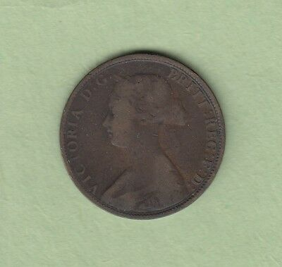 1864 New Brunswick One Cent Coin - VG