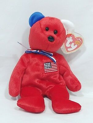 2002 TY Beanie Babies America Red - NEW