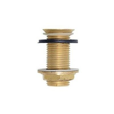 """Brass Beer Drip Tray Drain Assembly 2"""" x 1/2 NPT"""