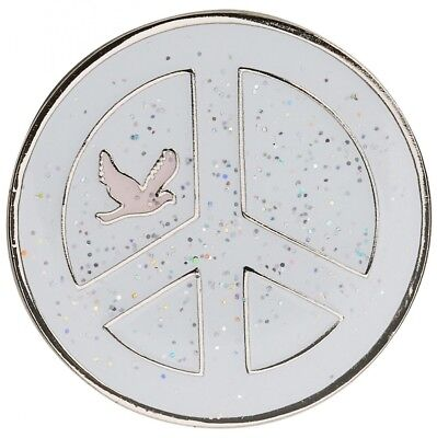 Navika Peace Sign Pink Glitzy Golf Ball Marker With Hat Clip. Huge Saving