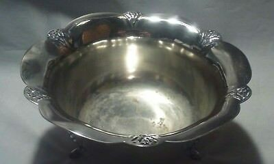 "Vintage WM A Rogers serving bowl/trophy silver plate ""1968 Columbus Internationa"
