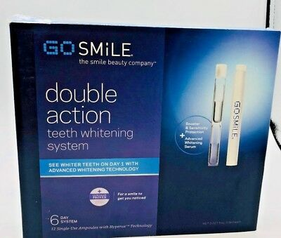 Go Smile Double Action Teeth Whitening 6-Day System (12 Ampules ) Brand New Box