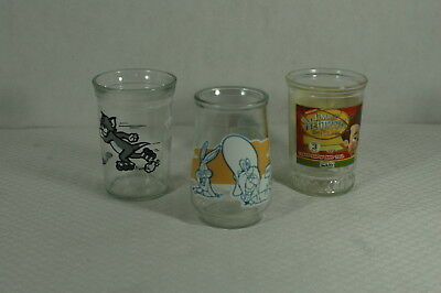 Lot of 3 Welch's Decorative Glasses