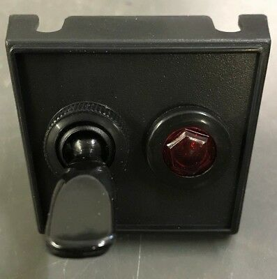 Vintage Under-Dash Mounting Single Toggle Switch W/ Light Bulb & Panel for Aux