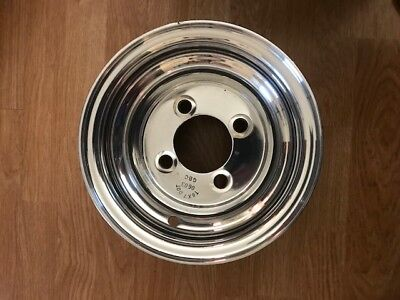 PAIR (2) NEW Full-Polish Aluminum Golf Cart Wheels 8 Inch Diameter  Aluminum Golf Cart Rims on car rims, golf carts lifted with exhaust, golf carts that are pink, golf carts with big wheels,