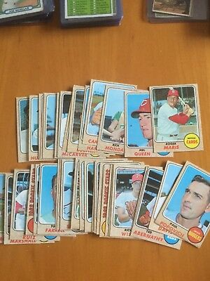 1968 Topps Baseball Cards Lot of 40 with Stars lower grade