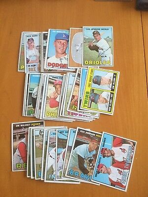 1967 Topps Baseball Card Lot of 40 Cards with Stars lower grade