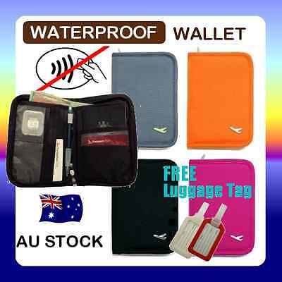 RFID Anti Scan BLOCK SLEEVE TRAVEL WALLET PASSPORT HOLDER BAG CREDIT CARD Case C
