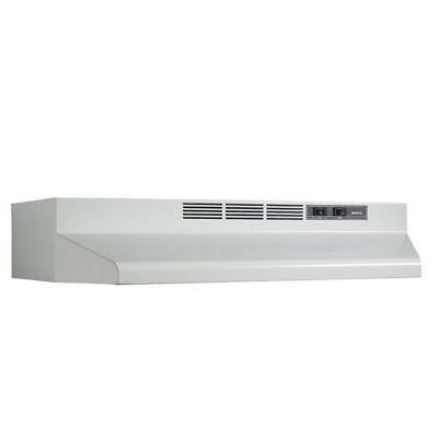 "CONVERTIBLE OVER STOVE RANGE HOOD White 42"" EXHAUST FAN Under Kitchen Cabinet"
