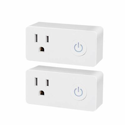 BN-LINK 2 Pack Smart Wi-Fi Plug Outlet with Energy Monitoring and Timer Function