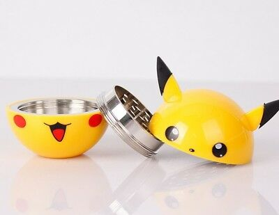 Pokemon Pikachu Herb Spice Tobacco Grinder Aluminum 3 pc 40mm - New With Box