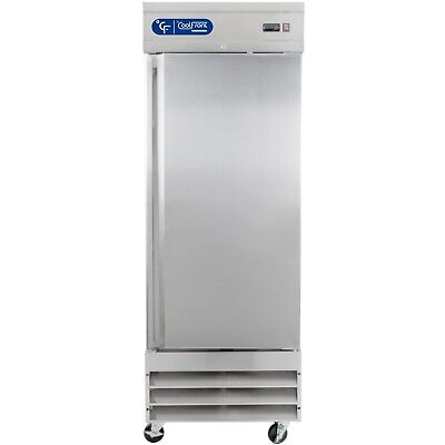NEW CoolFront One Door Upright Commercial Stainless Steel Freezer 23 Cu.Ft