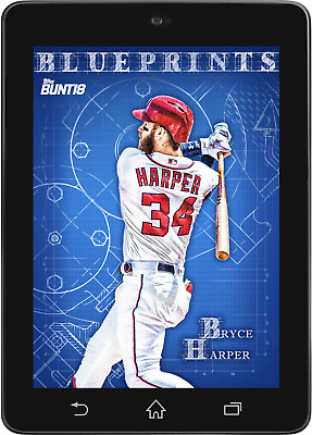 Topps BUNT Bryce Harper BLUEPRINTS 2018 Wave 3 [DIGITAL CARD] 200cc