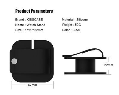 KISSCASE Coverage Protector Holder Dock Stand Bracket Charger For Apple iWatch