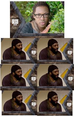 INTO THE HUNT WAVE 3 HEATH + 6x TYREESE Topps Walking Dead Trader Digital