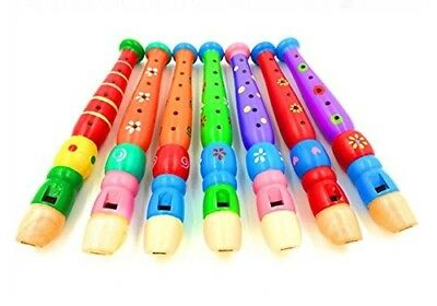 Nalmatoionme 1Pcs Funny Wooden Flute Kids Game Music Educational Toy Gift