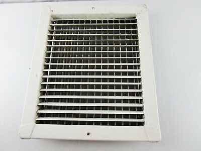 Vintage Metal Heat Air Register Wall Floor Grate Vent with Louvers