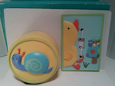 Kidsline Tiddliwinks Night Light & Switch Plate Cover Nursery In The Pond Mib