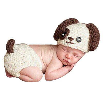 Newborn Baby Crochet Knitted Photo Photography Props Posting Baby Hat Diaper